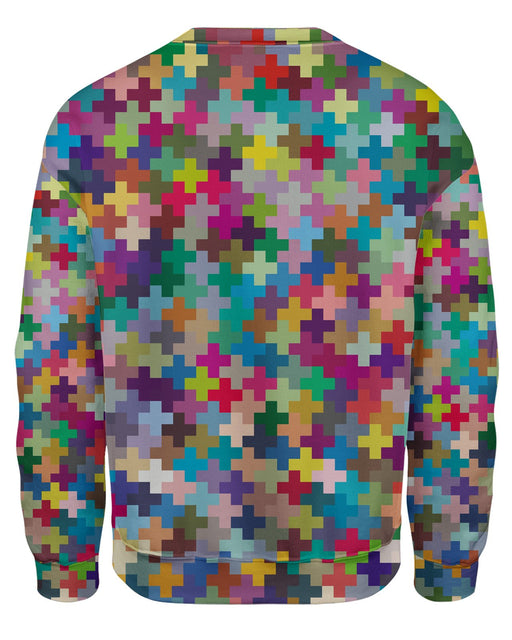 Multicolor Crosses Sweatshirt
