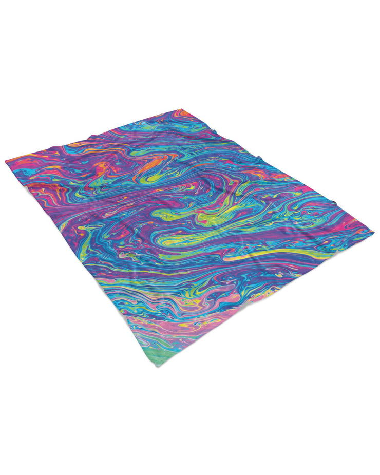 Oil Spill 2 Fluffy Micro Fleece Throw Blanket