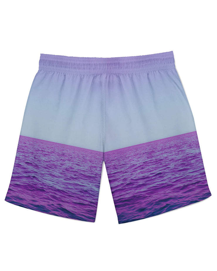 Purple Oceans Athletic Shorts