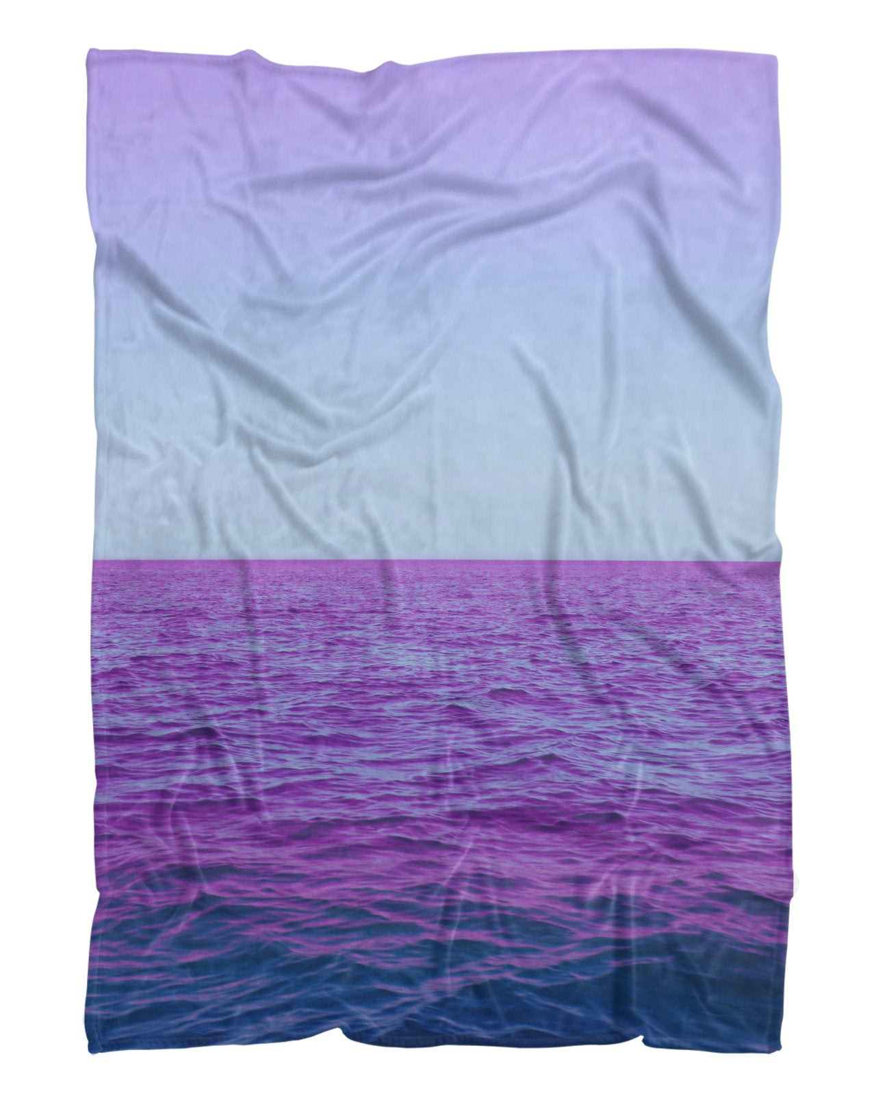 Purple Oceans Fluffy Micro Fleece Throw Blanket All Over Shirts Allovershirts Com