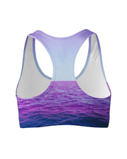 Purple Oceans Sports Bra