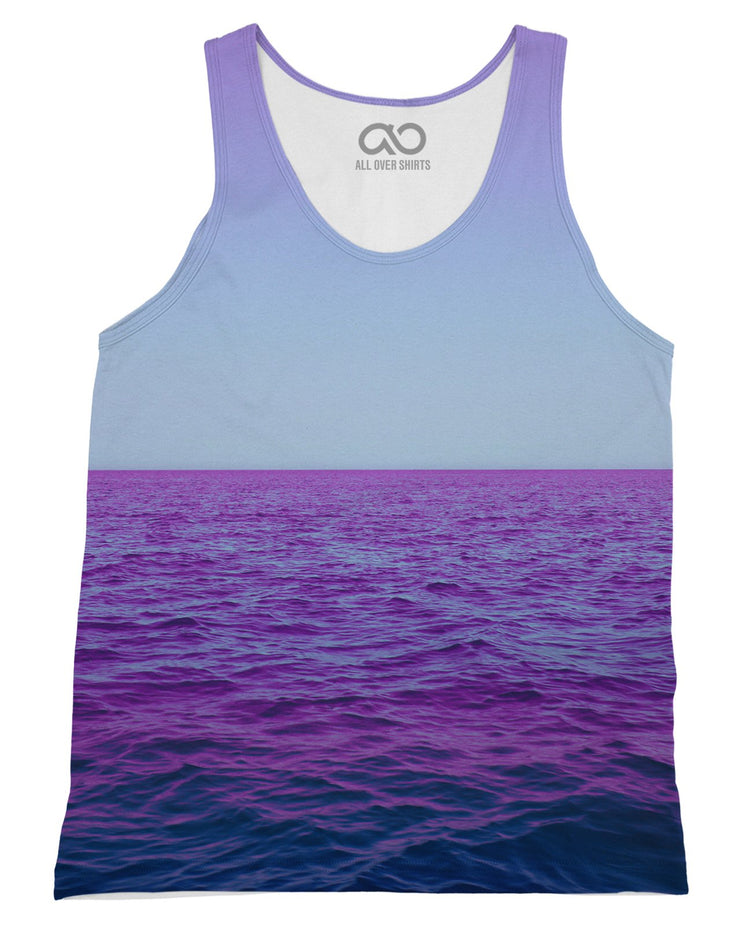Purple Oceans printed all over in HD on premium fabric. Handmade in California.