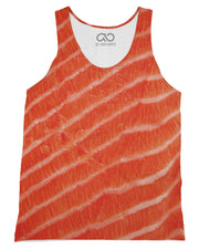 Salmon printed all over in HD on premium fabric. Handmade in California.