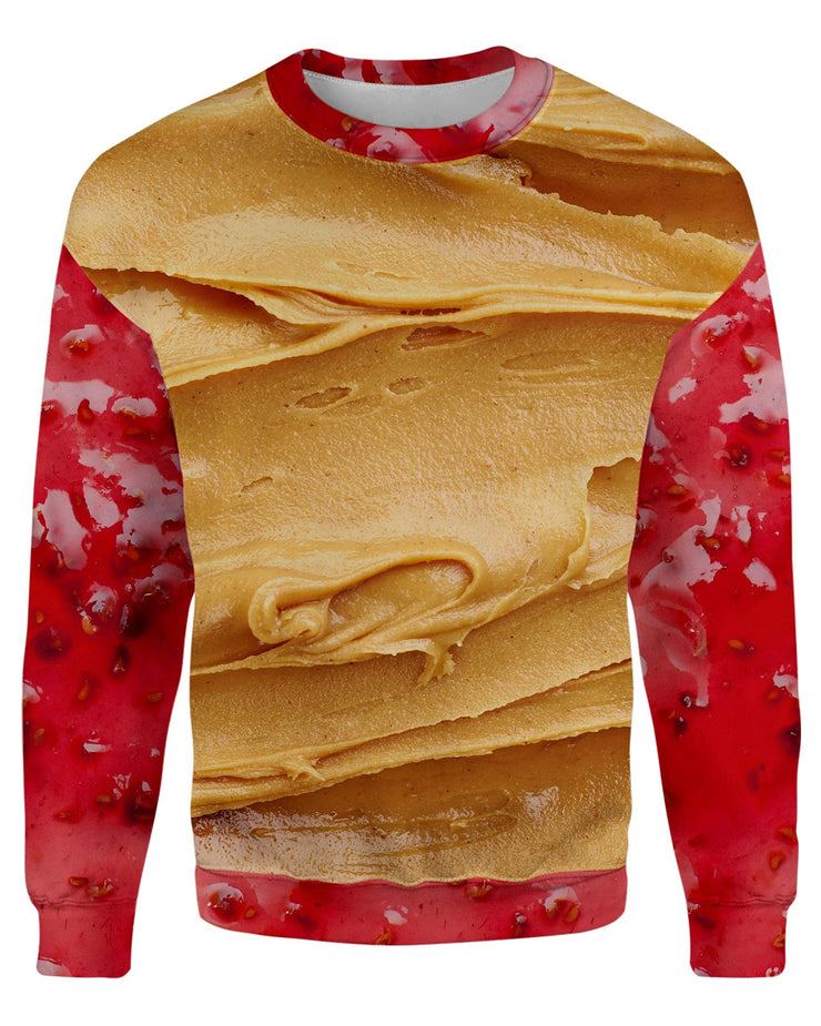 Peanut Butter and Jam printed all over in HD on premium fabric. Handmade in California.