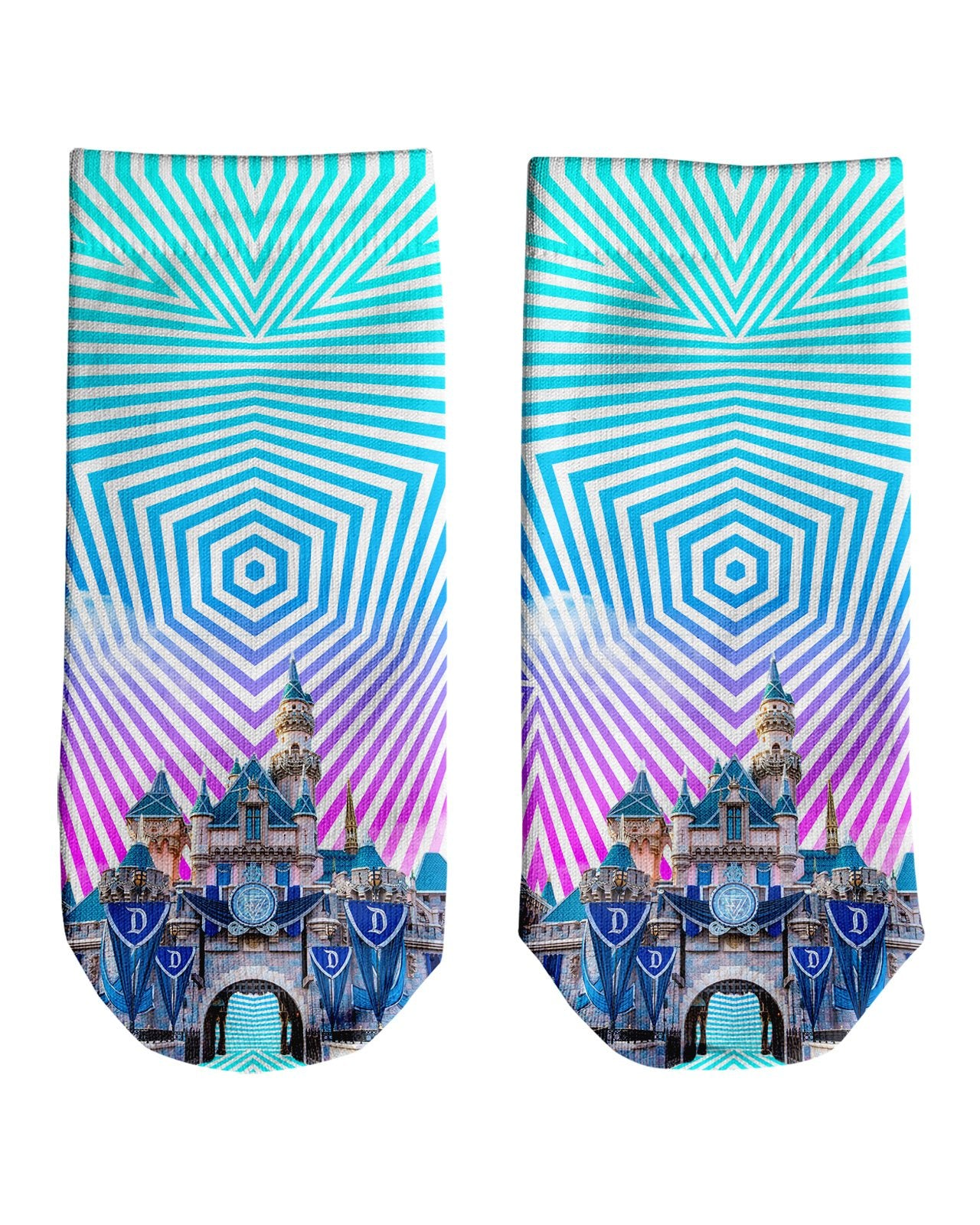 Sleeping Beauty Castle Ankle Socks