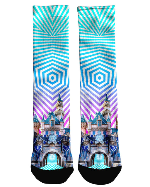 Sleeping Beauty Castle Crew Socks
