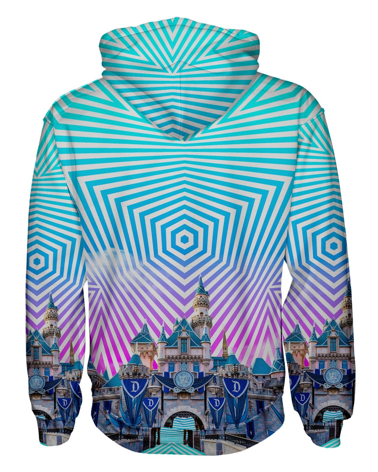 Sleeping Beauty Castle Zip Hoodie