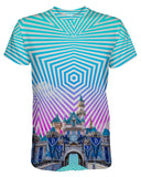 Sleeping Beauty Castle printed all over in HD on premium fabric. Handmade in California.