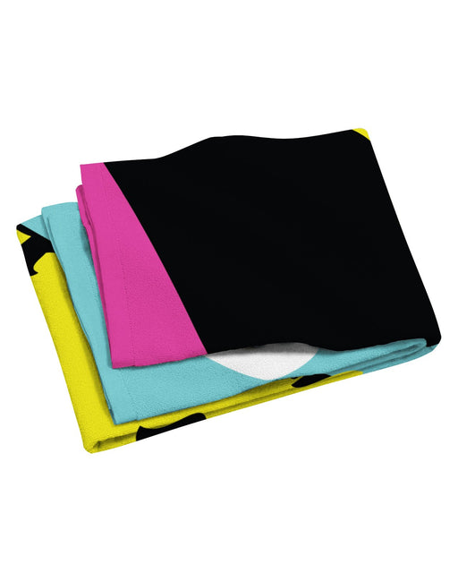 Retro Dojo CMYK Beach Towel