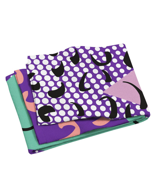 Retro Dojo Gone Geometric Beach Towel