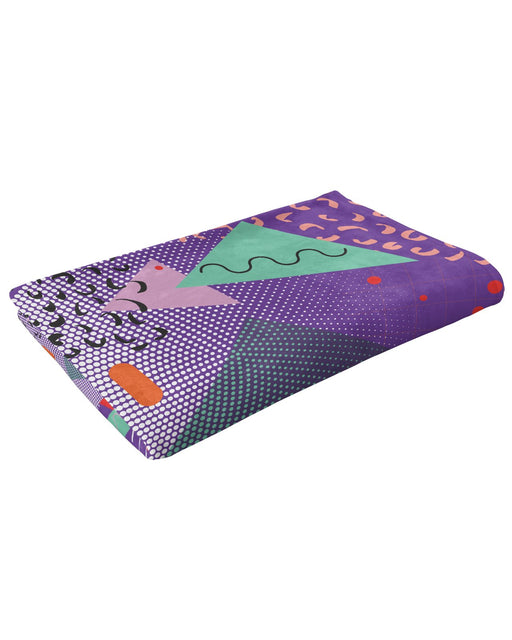 Retro Dojo Gone Geometric Fluffy Blanket