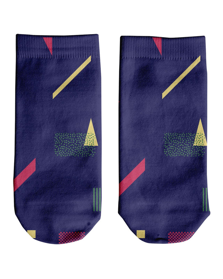 Retro Dojo Geometric Metrics Ankle Socks
