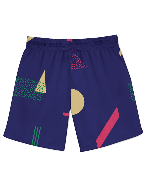 Retro Dojo Geometric Metrics Athletic Shorts