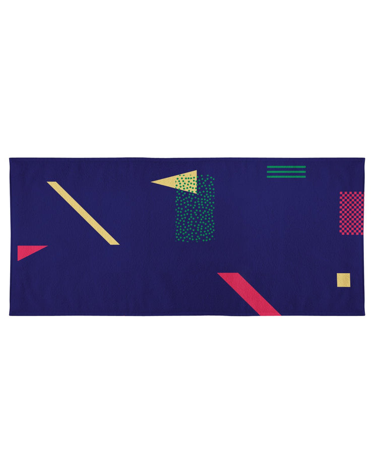 Retro Dojo Geometric Metrics Beach Towel