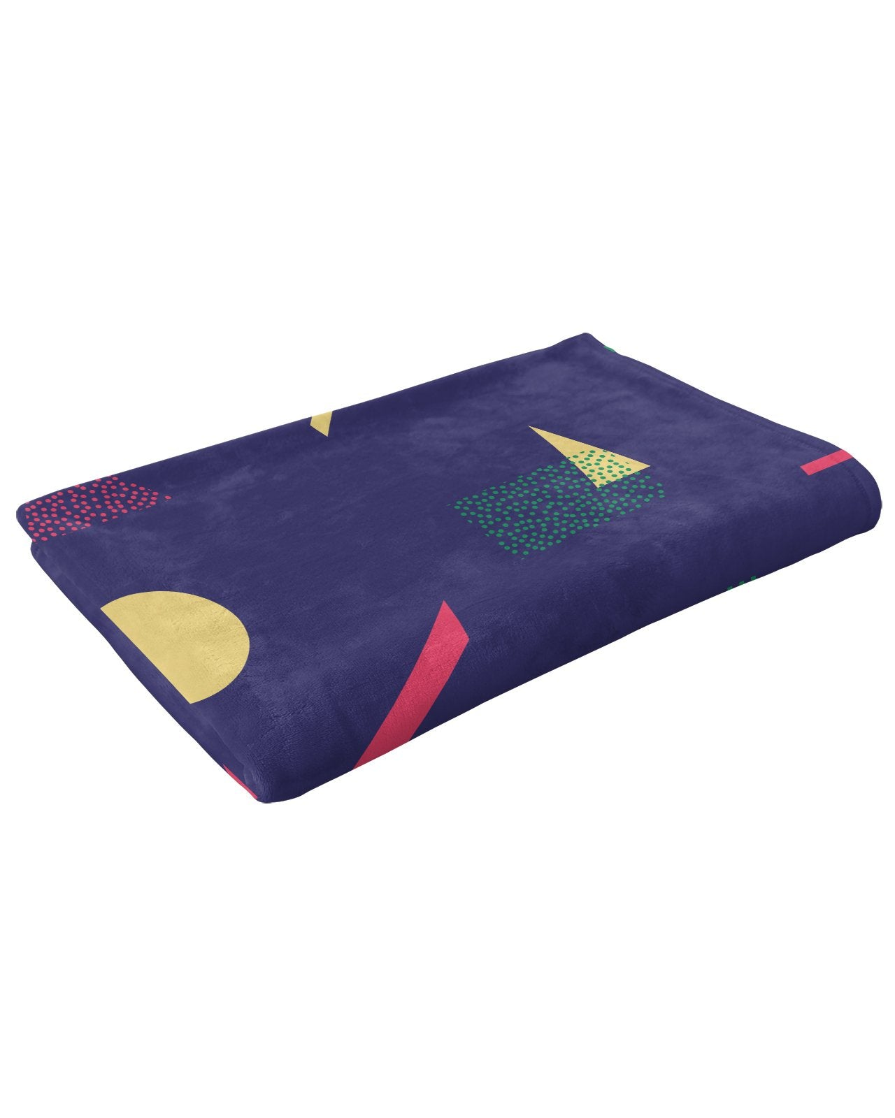 Retro Dojo Geometric Metrics Fluffy Micro Fleece Throw Blanket
