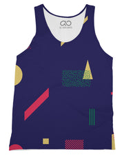 Retro Dojo Geometric Metrics Tank-Top