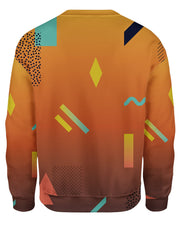 Retro Dojo Geometric Sunset Women's Sweatshirt