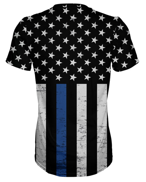 Thin Blue Line Grunge Stars T-shirt