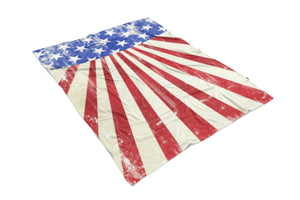 USA Burst Flag printed all over in HD on premium fabric. Handmade in California.