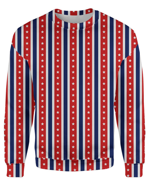 USA Flag Stripes Sweatshirt