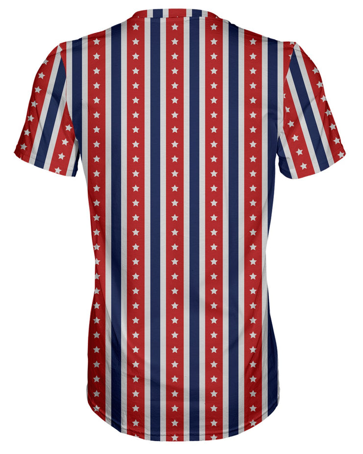 USA Flag Stripes T-shirt