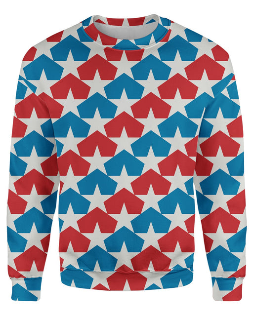 USA Flag Stars Sweatshirt