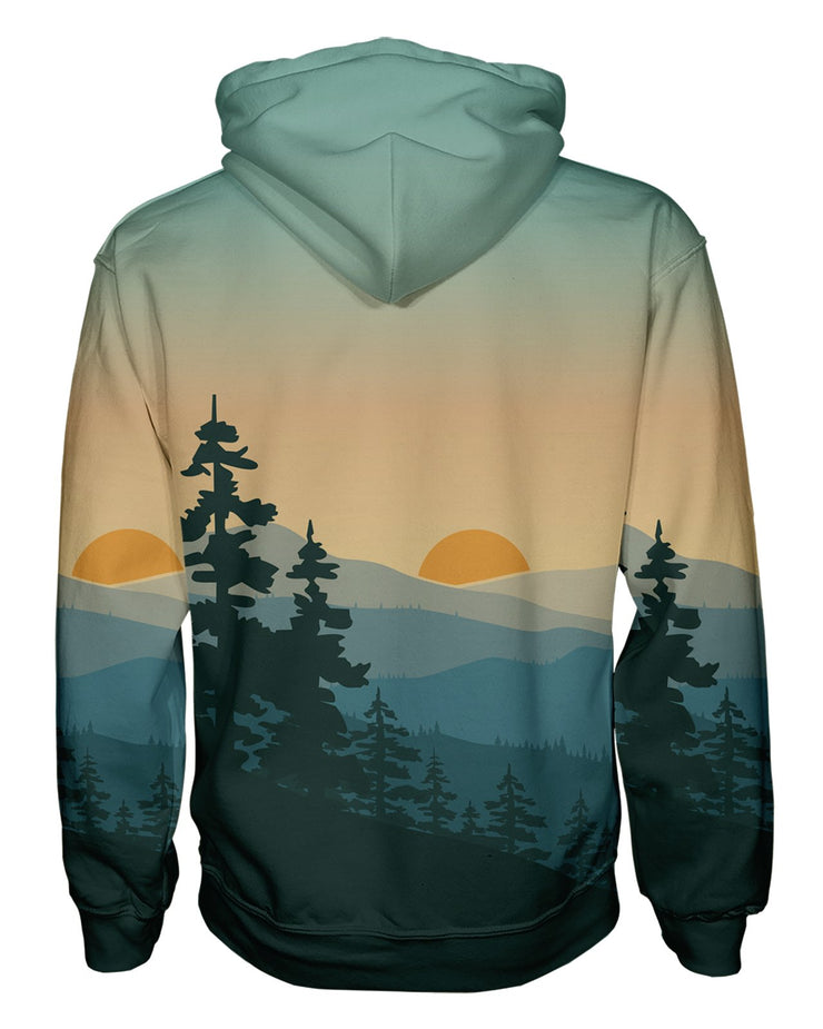 Adventure Sunrise Zip Hoodie