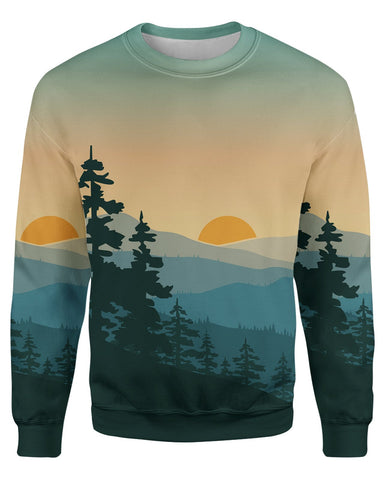 Adventure Sunrise printed all over.