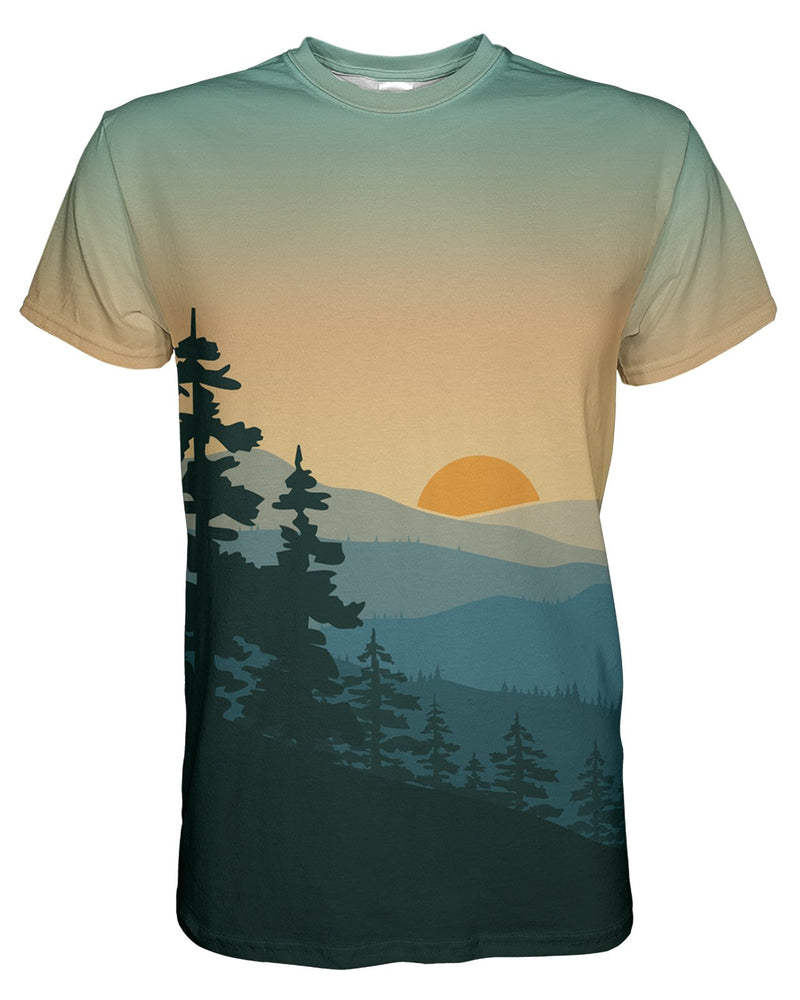 Adventure Sunrise printed all over in HD on premium fabric. Handmade in California.