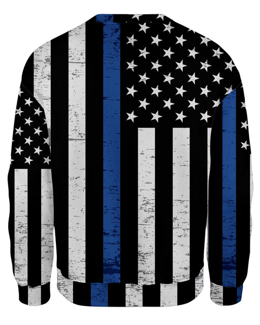 Thin Blue Line Grunge Sweatshirt