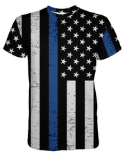 Thin Blue Line Grunge printed all over in HD on premium fabric. Handmade in California.