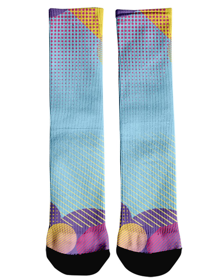 Retro Dojo Circles Crew Socks