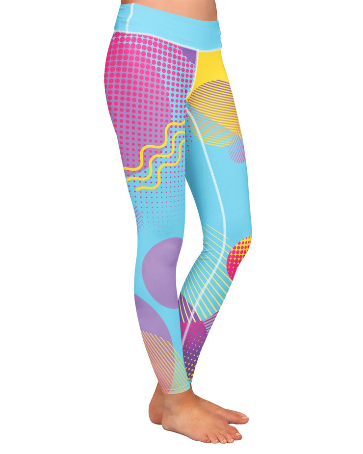 Retro Dojo Circles Yoga Leggings