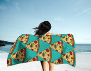Illuminati Pizza Beach Towel