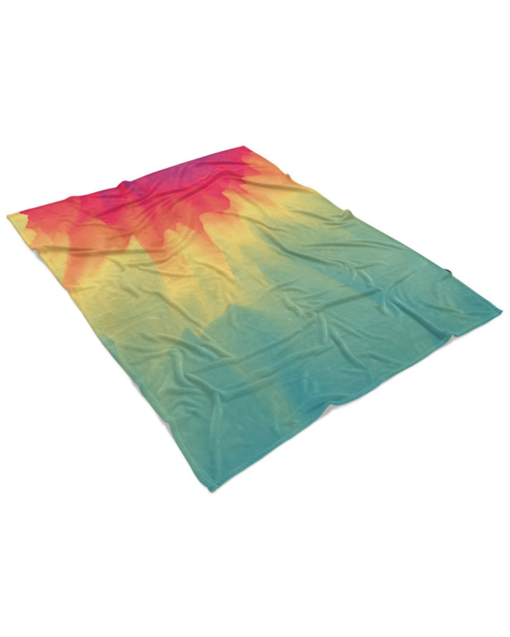 Watercolor Drip Fluffy Blanket