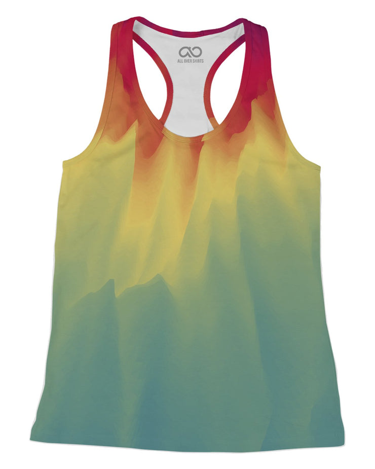 Watercolor Drip Racerback-Tank