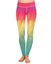 Watercolor Drip Yoga Leggings