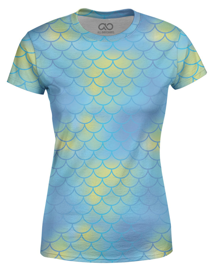 Mermaid Scales Aqua Women's T-shirt