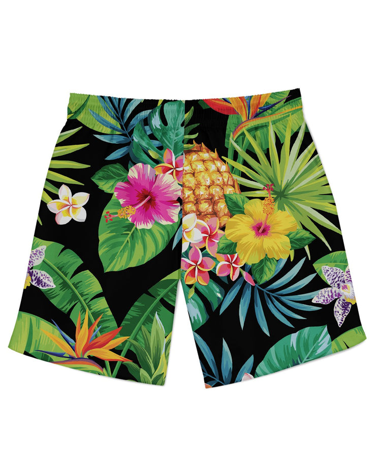 Tropical Pineapples Athletic Shorts