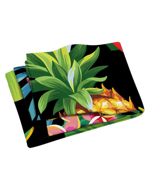 Tropical Pineapples Beach Towel