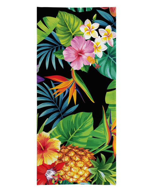 Tropical Pineapples printed all over in HD on premium fabric. Handmade in California.