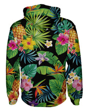 Tropical Pineapples Zip Hoodie