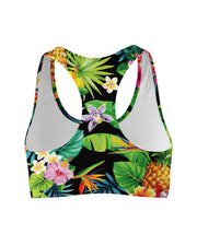 Tropical Pineapples Sports Bra