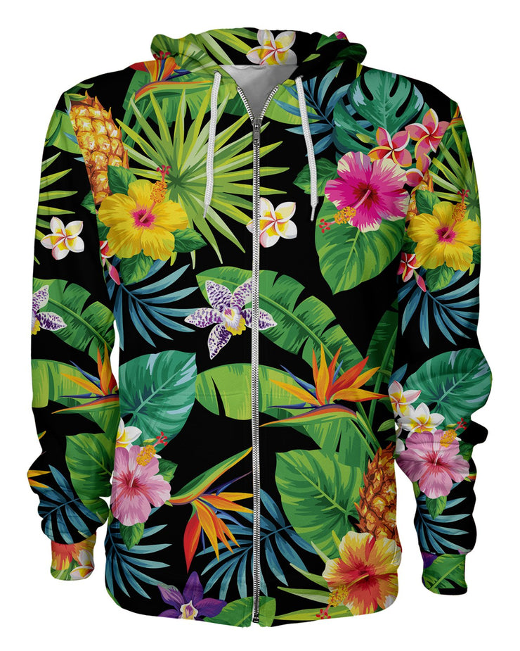 Tropical Pineapples Women's Zip Hoodie