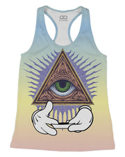 Illuminati Rolling printed all over in HD on premium fabric. Handmade in California.
