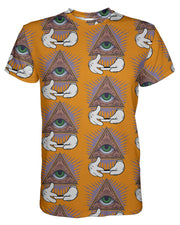 Illuminati Rolling Pattern Orange T-shirt