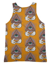 Illuminati Rolling Pattern Orange Tank-Top