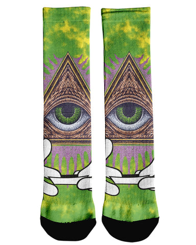 Illuminati Rolling Green printed all over in HD on premium fabric. Handmade in California.