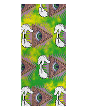 Illuminati Rolling Pattern Green Beach Towel