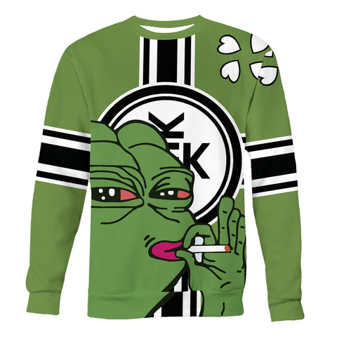 Pepe Smoking on the kekistan flag background printed all over in HD
